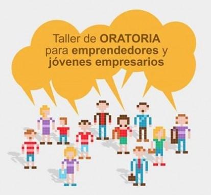 Cartel Taller de Oratoria para Emprendedores y Jóvenes Empresarios AJE