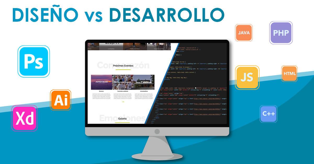 diferencia entre desarrollo web y diseño web