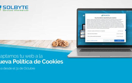 Adaptamos tu web a la nueva Política de cookies