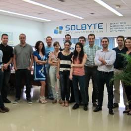 Equipo de Solbyte en mayo de 2014