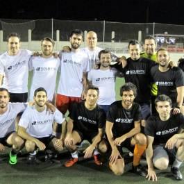 Partido de fútbol de Solbyte en marzo de 2016