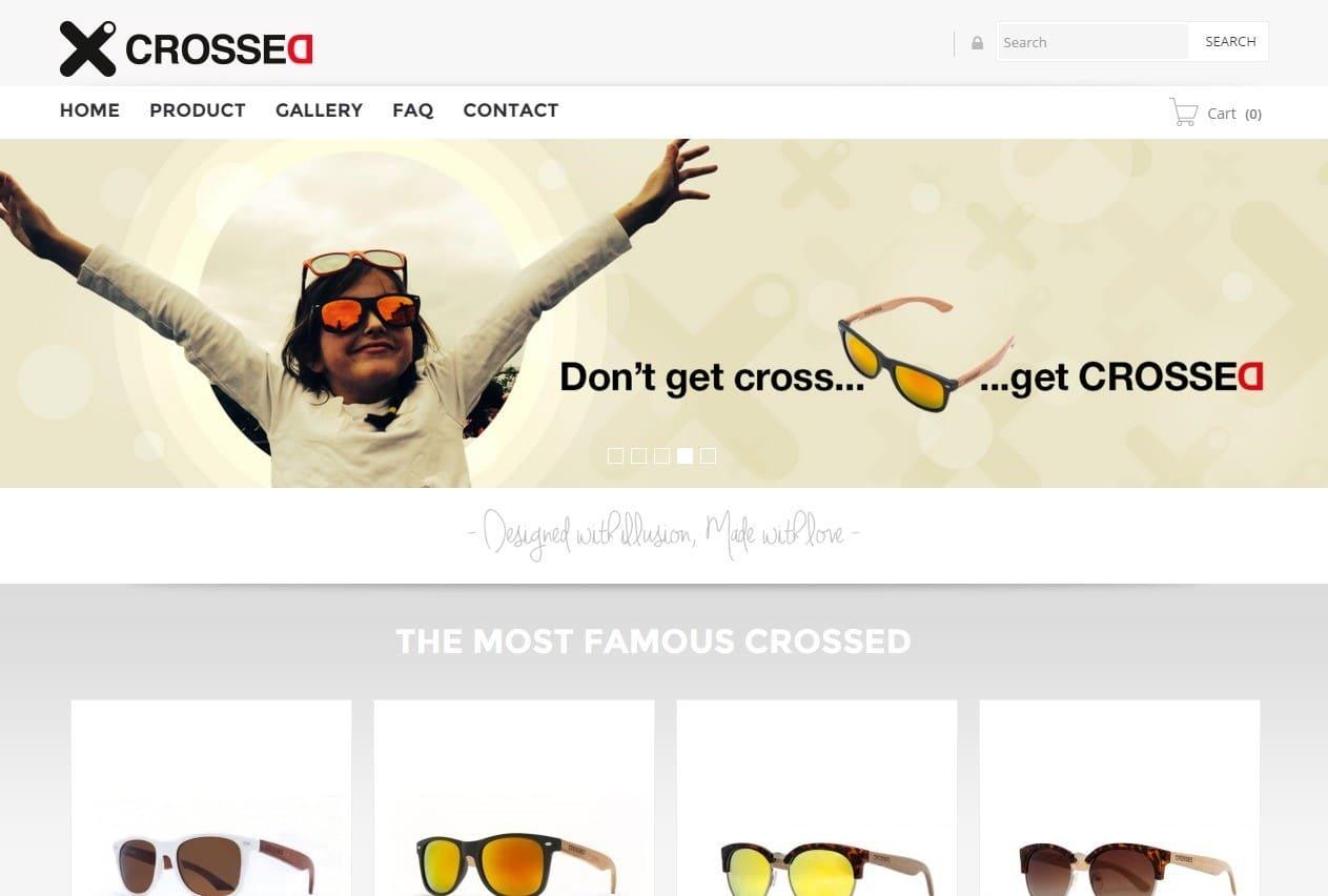 Solbyte desarrolla la tienda online de Crossed para la venta de gafas en Reino Unido